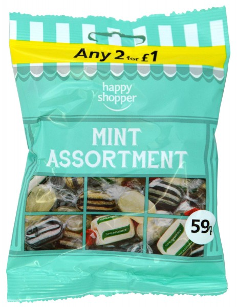 Happy Shopper Mint Assortment 80g