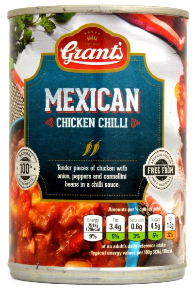 Grants Mexican Chicken Chilli 392g