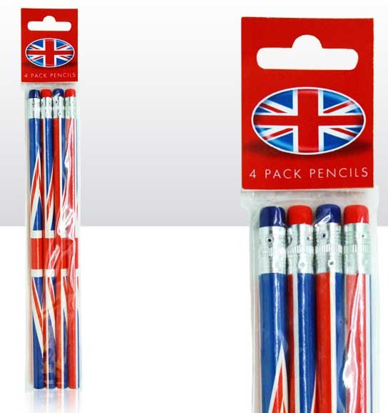 Union Jack Pencils 4er-Pack