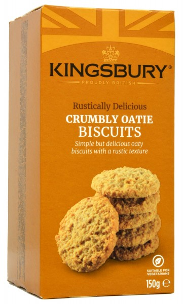 Kingsbury Crumbly Oatie Biscuits 150g