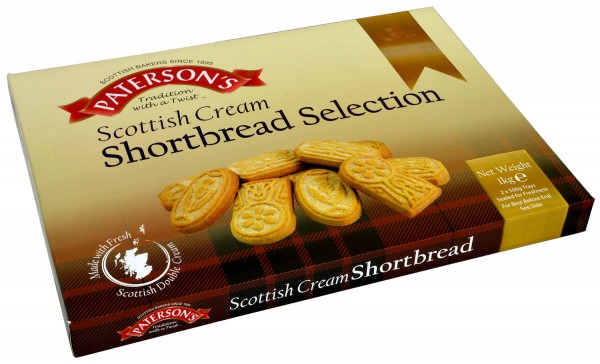 Patersons Scottish Cream Shortbread Selection 1kg