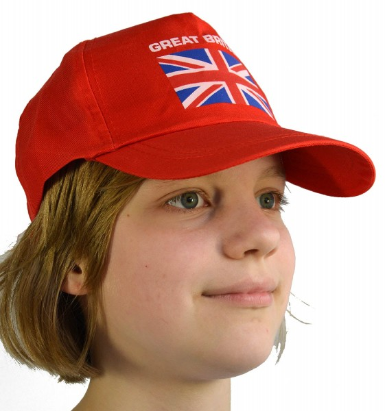 Baseball Cap Great Britain Red