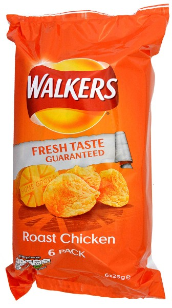 Walkers Roast Chicken, 6 x 25g Pack