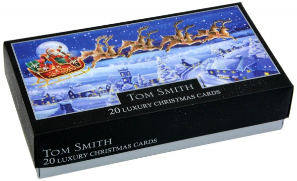 20 Tom Smith Christmas Cards Flying Santa