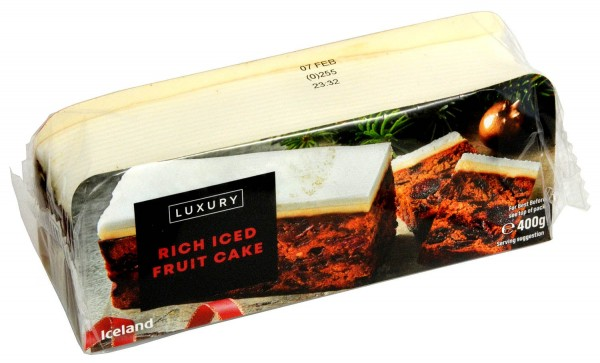 Iceland Luxury Rich Iced Fruit Cake 400g