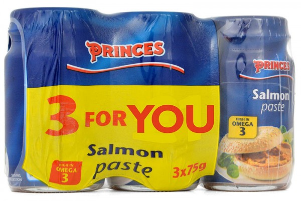 Princes Salmon Paste 3 x 75g Sparpack