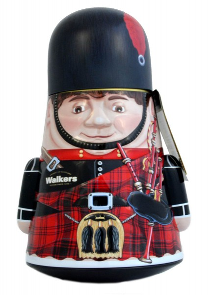 Walkers Shortbread Wobbly Piper Tin