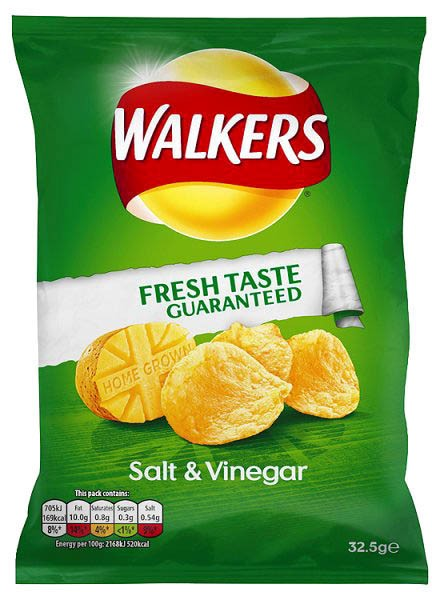 Walkers Salt & Vinegar, Karton 32 x 32,5g