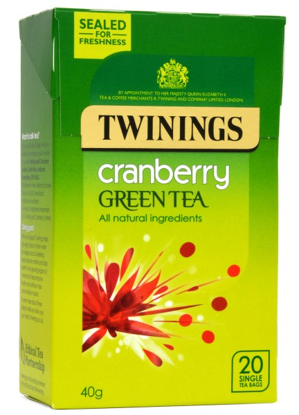 Twinings Green Tea Cranberry Grüntee 20 Beutel
