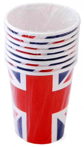 Pappbecher Union Jack 8er-Pack