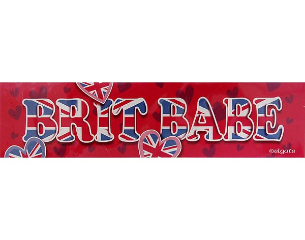 Sticker Brit Babe 20 x 5 cm