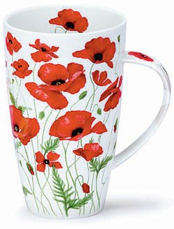 Dunoon Henley Poppies Red