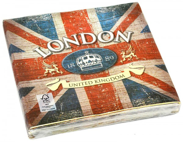 Servietten London United Kingdom 20 Stück 33x33cm