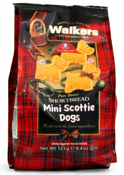 Walkers Mini Scottie Dog Shortbread 125g