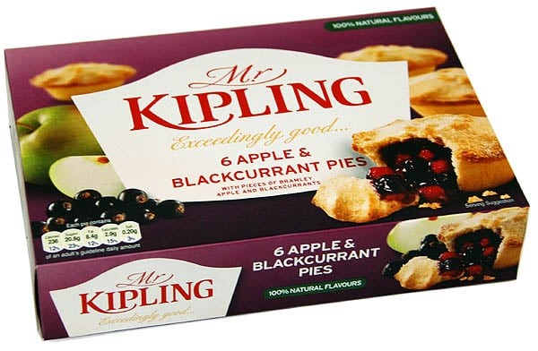 Mr. Kipling 6 Apple & Blackcurrant Pies - Apfel & schwarze Johannisbeere