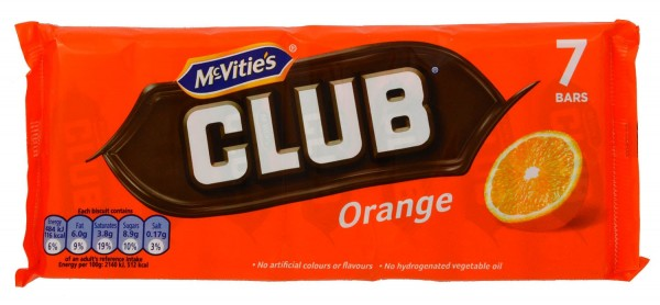 McVities Club Orange 7 Riegel 154g
