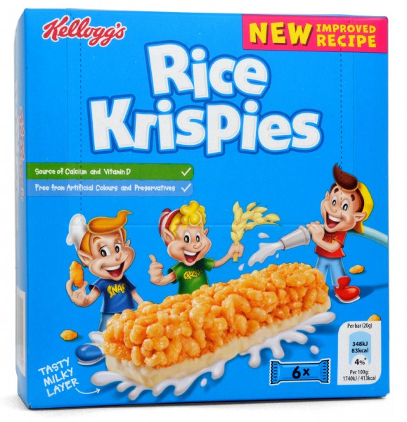 Kelloggs Rice Krispies Cereal & Milk Snack Bars