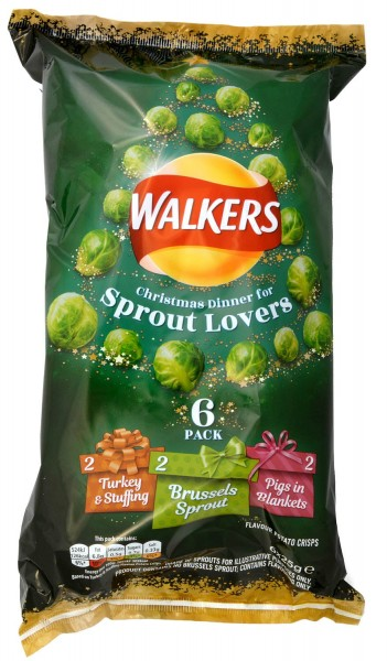 Walkers Christmas Dinner for Sprout Lovers 6x25g