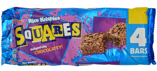 Kelloggs Rice Krispies Squares Chocolatey 4 x 26g