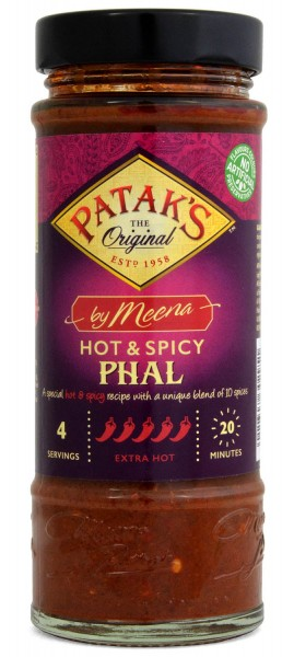 Pataks by Meena Hot & Spicy Phal Sauce 425g