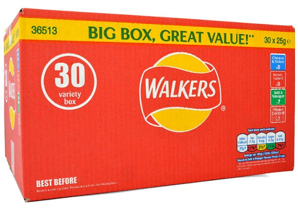 Walkers 30er Variety Box 30 x 25g