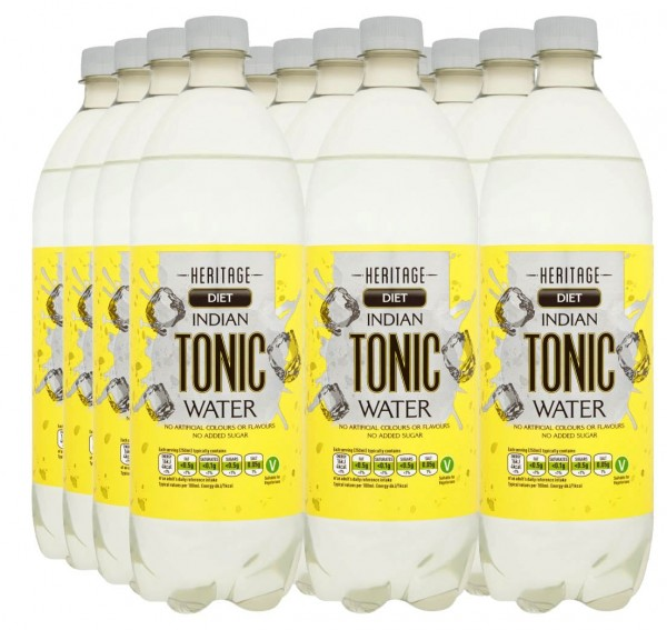 Heritage Low Calorie Indian Tonic Water 12 x 1 Liter