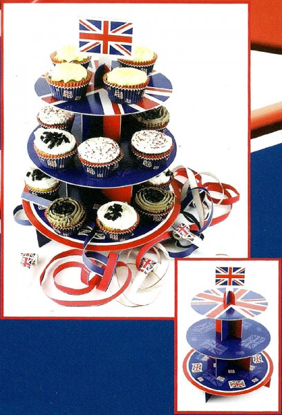 Muffin-Etagère Union Jack