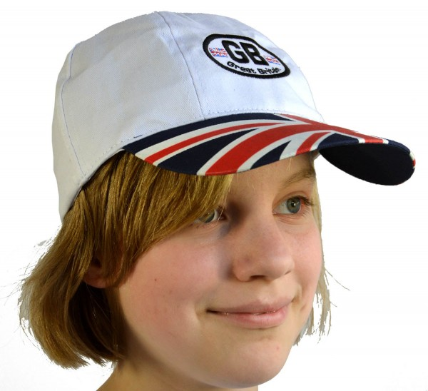 Baseball Cap Great Britain Gestickt Blau