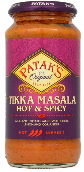 Pataks Hot & Spicy Tikka Masala Cooking Sauce