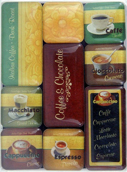 Magnet-Set 9tlg. ´Coffee & Chocolate´