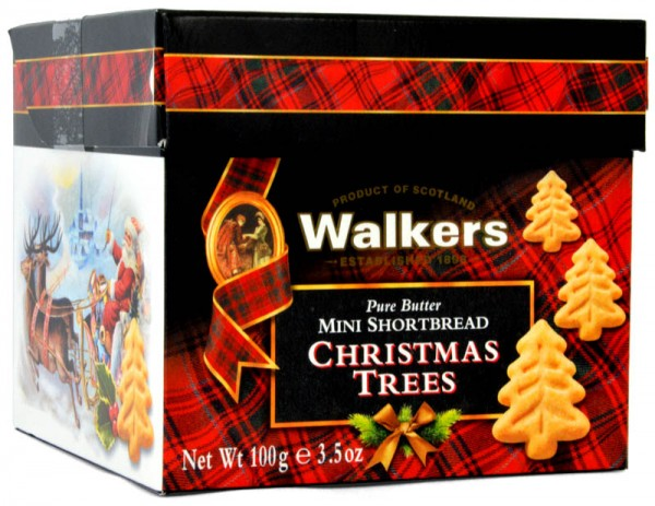 Walkers Mini Shortbread Christmas Trees 100g