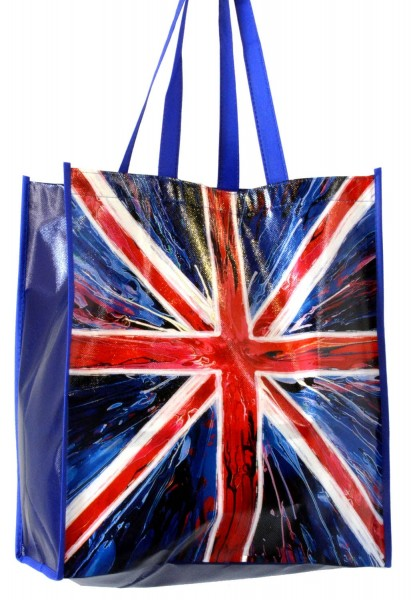 Union Jack Spin Painting Non-Woven Tragetasche
