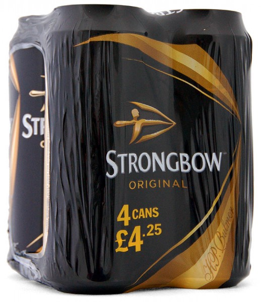 Strongbow Cider Original, Pack 4 x 440ml