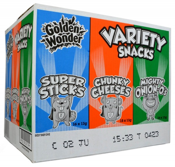 Golden Wonder Snacks Variety Box 50 x 13g