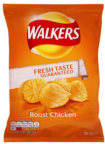 Walkers Roast Chicken, Karton 32 x 32,5g