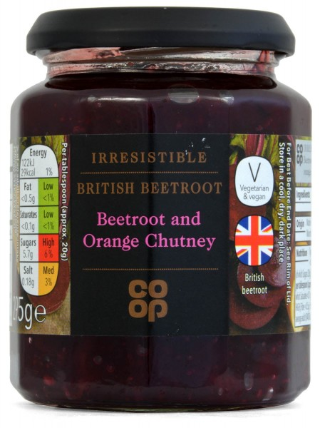 Co-op Beetroot and Orange Chutney 295g