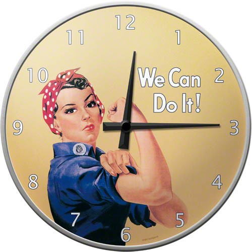 Wall Clock ´We Can Do It!´