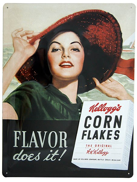 Metal Sign ´Kellogg´s - Flavor does it!´