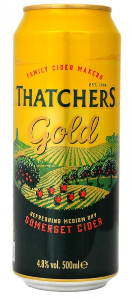 Thatchers Gold Medium Dry Somerset Cider Dose