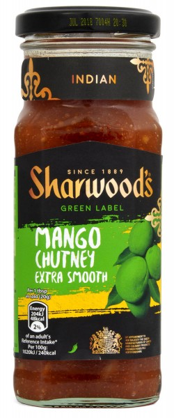 Sharwoods Green Label Mango Chutney Smooth 360g
