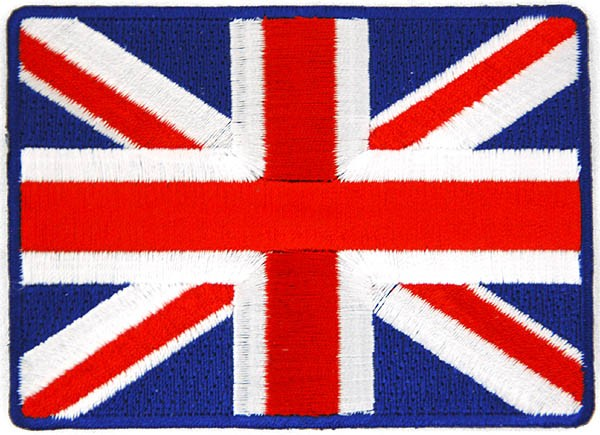 Union Jack Embroidered Patch