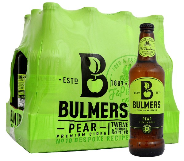 Bulmers Pear Cider Bottle, Pack 12 x 500ml