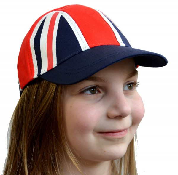 Kids Baseball Cap Union Jack Blue Shield