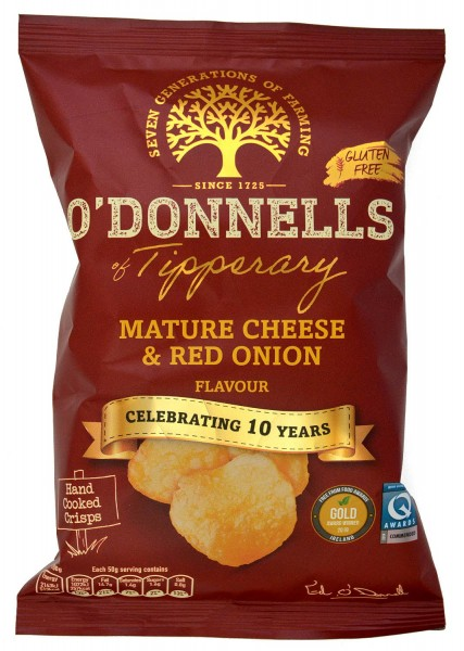 O`Donnells Mature Cheese & Red Onion Crisps 50g