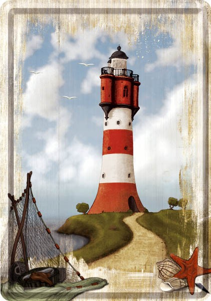 Metal Card ´Lighthouse´ - Blechpostkarte