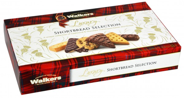 Walkers Luxury Shortbread Selection with Chocolate 250g