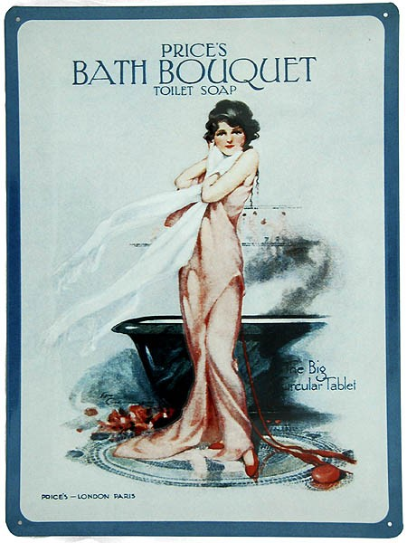 Metal Sign ´Prices Bath Bouquet´