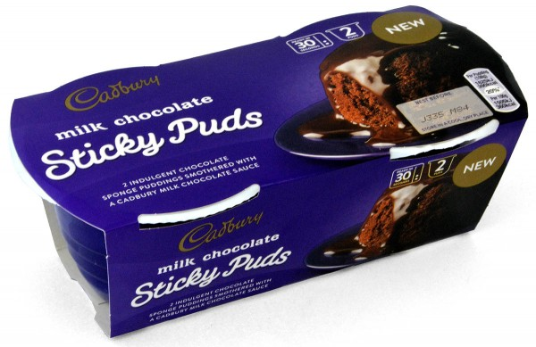 Cadbury Milk Chocolate Sticky Puds 2 x 95g