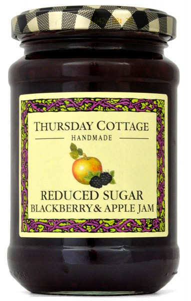 Thursday Cottage Red. Sugar Blackberry & Apple Jam 315g