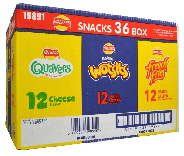 Walkers 36er Snack Variety Box 36 x 25g